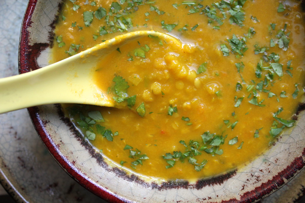Curried Carrot Soup with Red Lentils | Not Eating Out in New York