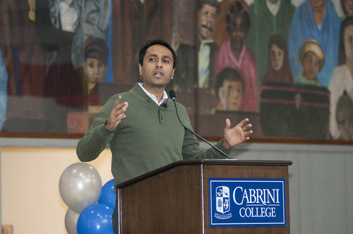 Eboo Patel speaking at Cabrini Day 2013
