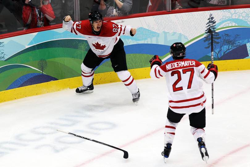 Sidney Crosby writes himself into Canadian Olympic Hockey history.