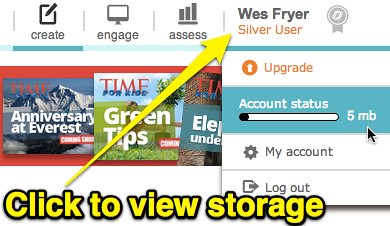 Nearpod - View Available Storage