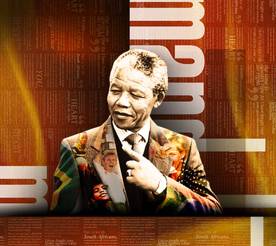 Graphic of the late former President of South African and the African National Congress, Nelson Mandela. The image was published in the Mail & Guardian. by Pan-African News Wire File Photos