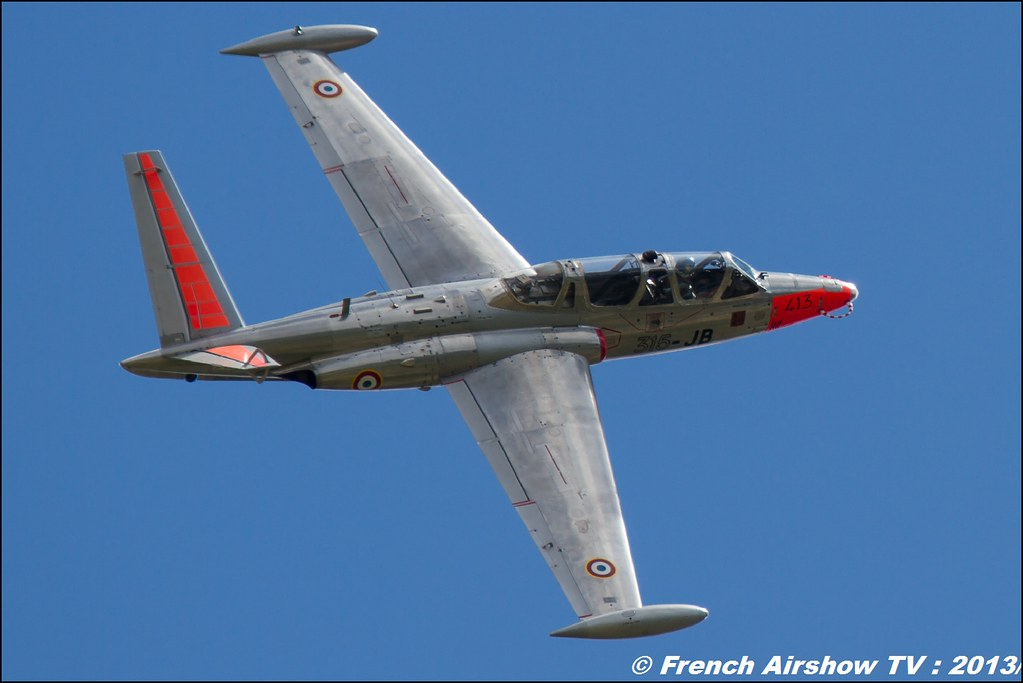 Fouga Magister,60 ans Patrouille de France , Meeting Aerien 2013