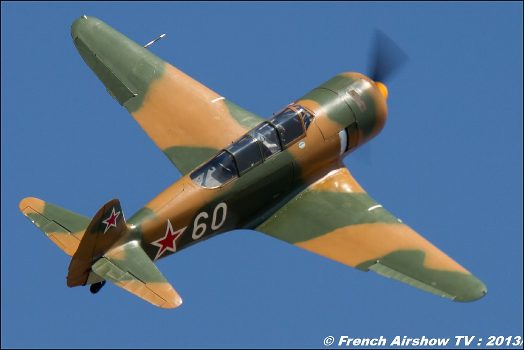 Yak 11 F-AZJB au Free Flight World Masters Valence 2013, Meeting aerien 2013