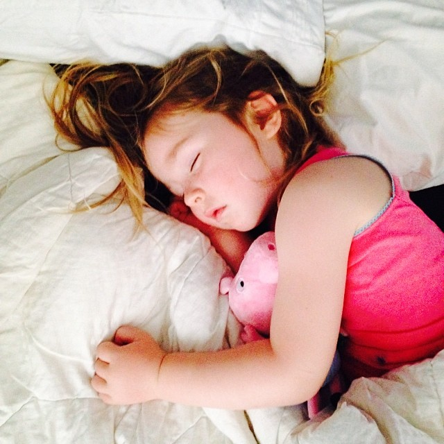 Tiny plays hard. This was her Christmas Day nap - before lunch!  #latergram #loveher