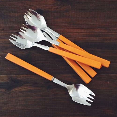 In other news, there is a vintage wares store next to the cheese shop in #robertson - $4 later... sporks! #oppshopobsession #vsco #vscocam #holidayroadtrip
