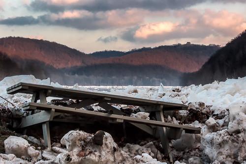 winter ice landscape spring unitedstates pennsylvania decay explorer pa alleghenyriver greenplanet canoncamera eastbrady riverquest ventureoutdoors bradysbend canon60d garysprague explorepa rurelliving newkensingtoncameraclub