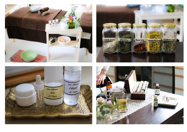 アロマサロン「La verite」愛知県瀬戸市 サロン撮影写真 カフェ 食べ物 雑貨 アロマクラフト 施術風景