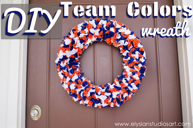 DIY Team Colors Wreath