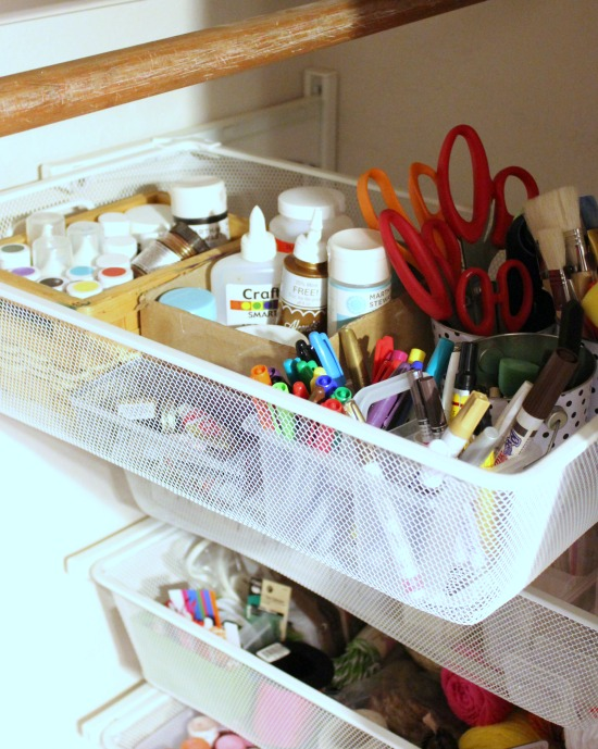 Hi Sugarplum | Craft Closet Organization
