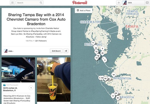 Pinterest: Sharing Tampa Bay with a 2014 Chevrolet Camaro from Cox Auto Bradenton