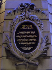 Photo of Sussex Telegraph, Hove Post, and Brighton Gazette black plaque