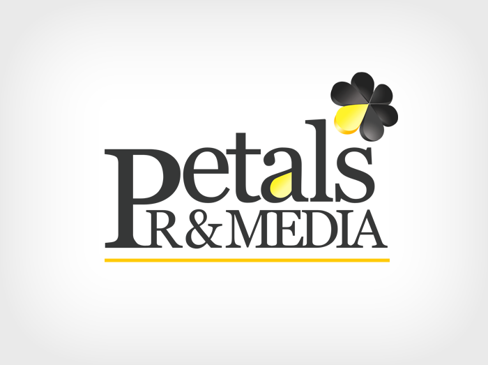 petals pr n media logo design