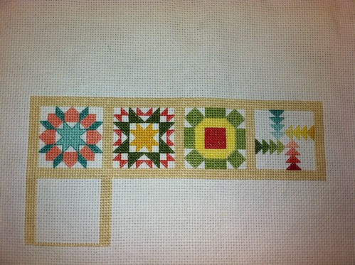 Little Miss Shabby Quilty Stitches Sampler Along