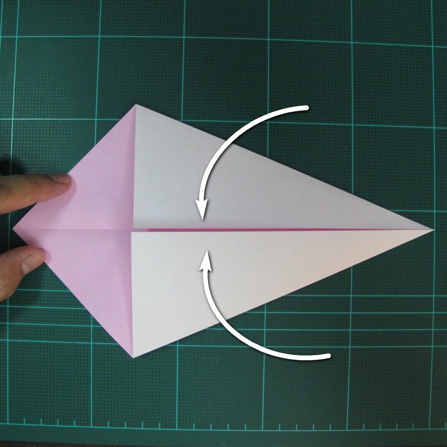 วิธีพับกระดาษเป็นรูปเครื่องบินแบบบินไกล (SST Origami Airplane) 003
