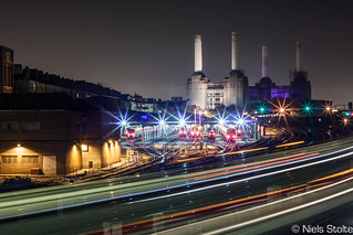 Battersea Power Station at Night / London, UK