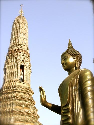 Detalle de Buda y Wat Arun