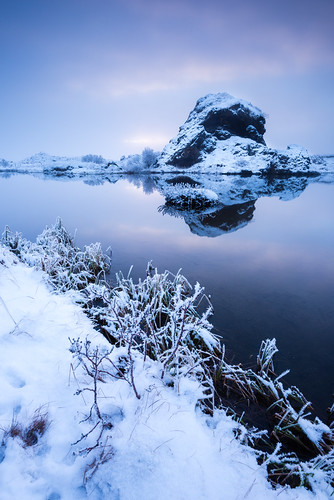 travel winter sunset lake snow ice nature water rock fog stone reflections season landscape iceland twilight europe cloudy dusk foggy nordic northeast ísland halflight mývatn republicoficeland lakemývatn norðurlandeystra lýðveldiðísland northeasternregion