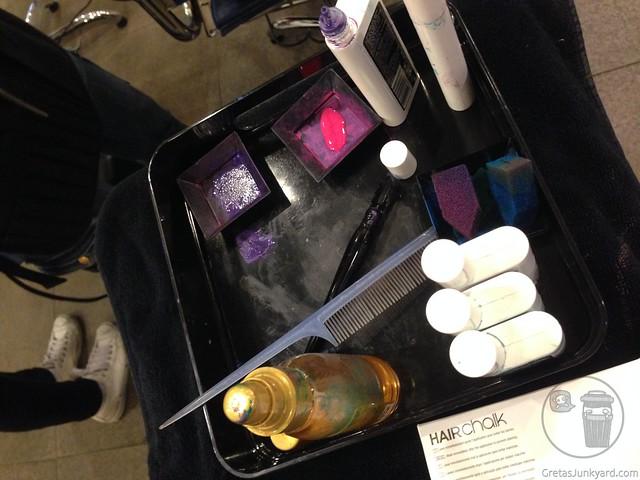 hair chalk at azta urban salon