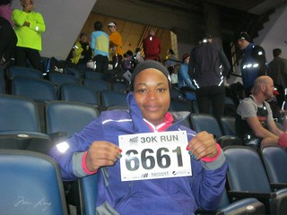 Arlene and her bib number - 6661