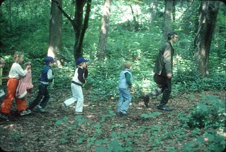 Children's nature walk in Discovery Park, 1978