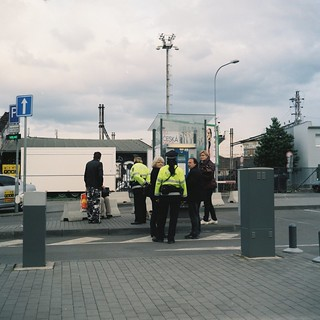 Lubitel 2 - People Solving Some problem with Policewomen