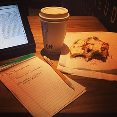 The joy of routine. #starbuckstudy, #morningritual