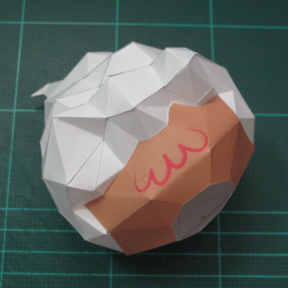 วิธีทำโมเดลกระดาษคุกกี้รสคุกกี้แอนด์ครีม  (Cookie Run Cream Cookie Papercraft Model) 008