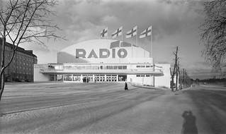 The exhibition hall in Helsinki featuring a radio exhibition, ca. 1935.