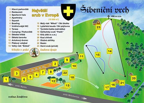 Šibeniční vrch - mapa sjezdovek