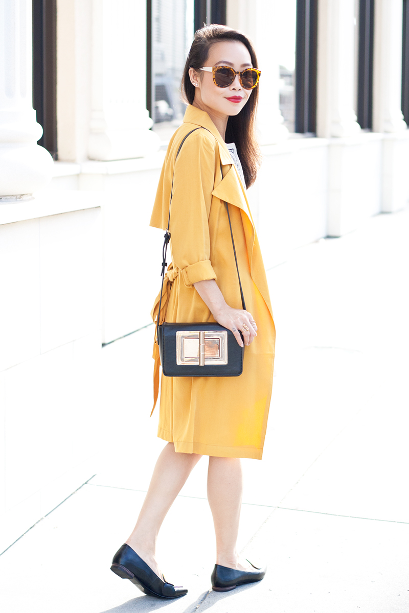 07-mustard-trench-romper-loafers-fashion-style-sf-sanfrancisco