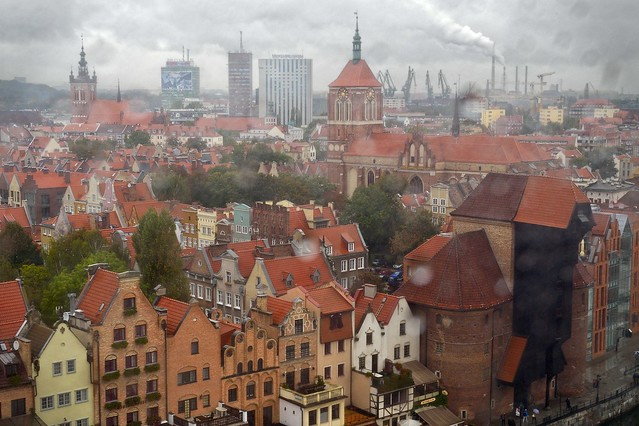 Gdansk under the storm