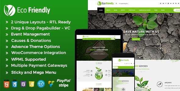 Eco Friendly WordPress Theme free download