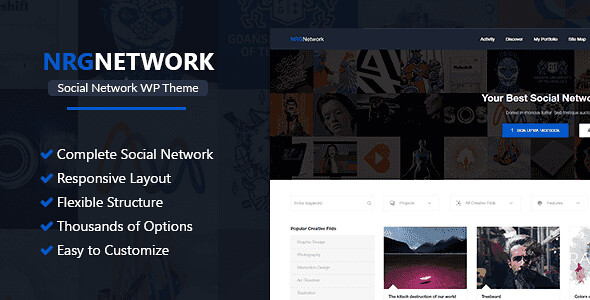 NRGNetwork WordPress Theme free download