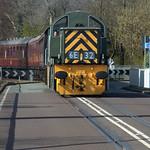 Engine on the swing bridge at Preston