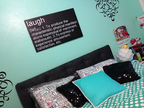 Sequin pillows for tween room makeover