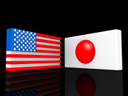 Flags Agreement United States and Japan