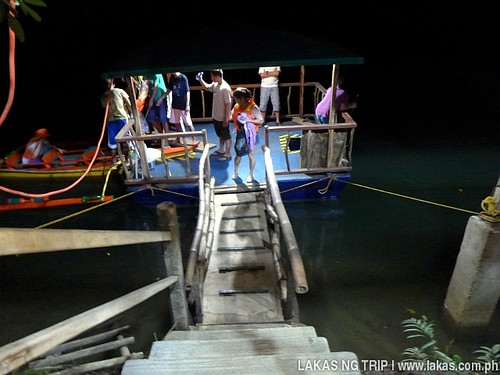 Platform where our boat and guide awaits in Iwahig Firefly Watching in Puerto Princesa City, Palawan