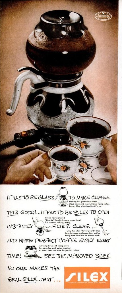 Silex Siphon Coffee 1948 Ad