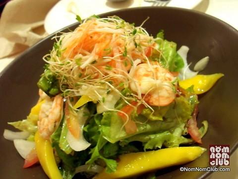 Shrimp, Mango, Alfalfa Salad