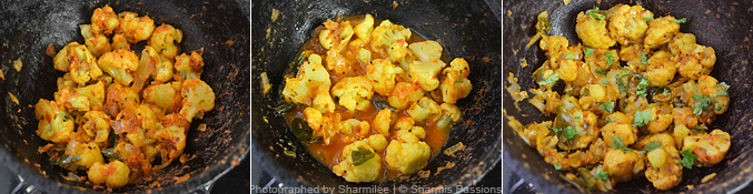 How to make cauliflower curry - Step3