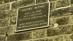 Photo of Sailors' Bethel brown plaque