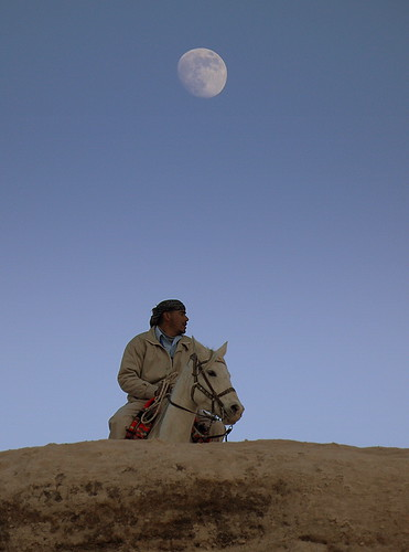 Wed, 07/12/2011 - 17:09 - Man, horse and moon.