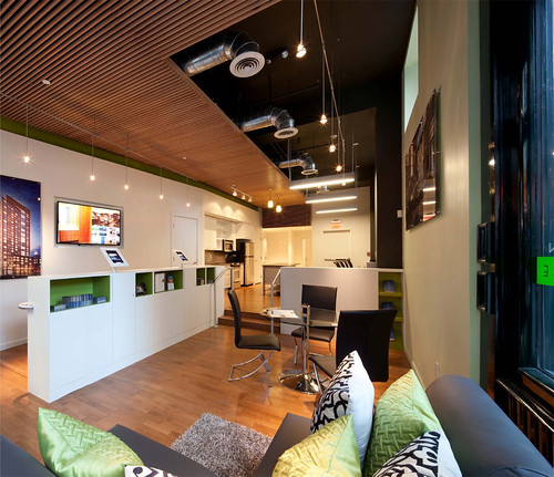 JW-Hart posted a photo:Leasing office in Hayden Building by CUBE design + research. www.CUBEdesignResearch.com, copyright.