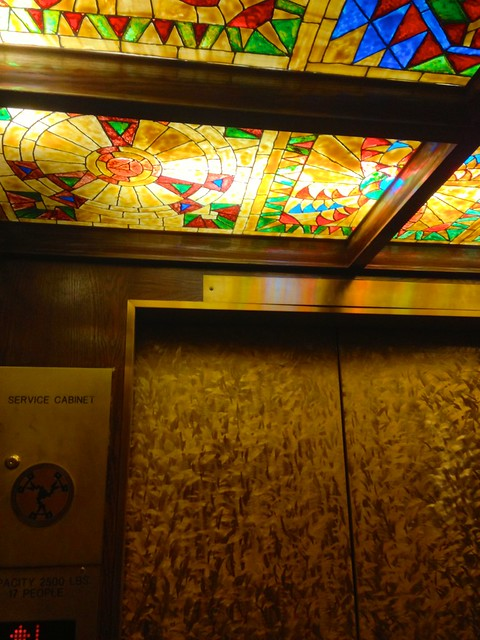 Inside the Ahwahnee Elevator