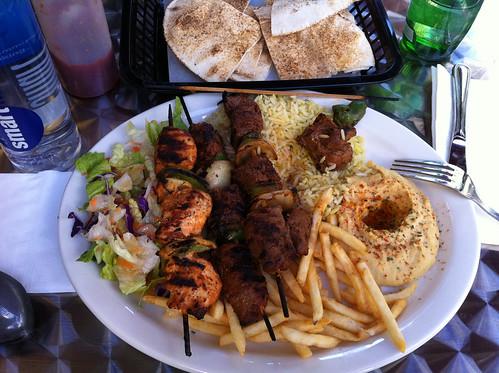 Kebabs at Le Cafe Bonjour