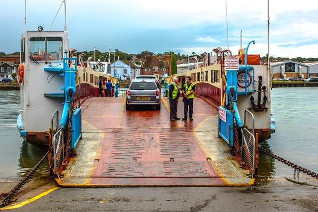 Cowes Floating Bridge en la Isla de Wight