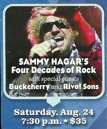 08/24/13 Sammy Hagar/ Buckcherry/ Rival Sons @ MN State Fair, St. Paul, MN