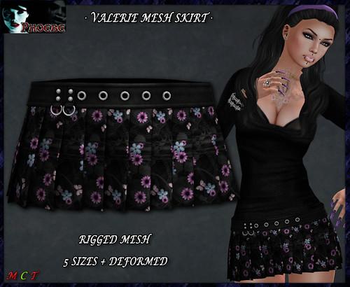 P Valerie MESH Skirt ~Flowers 1~