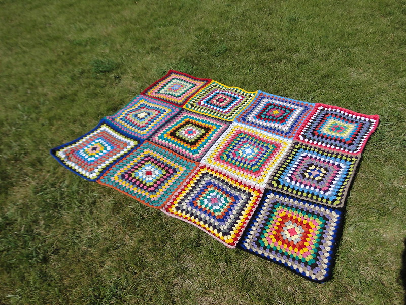summer stash busting granny blanket