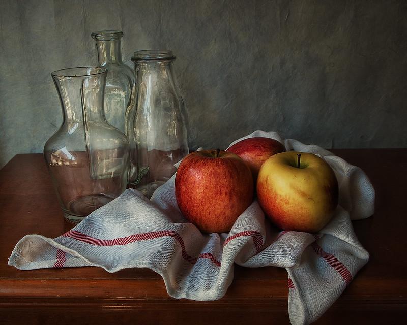 Manzanas y cristal